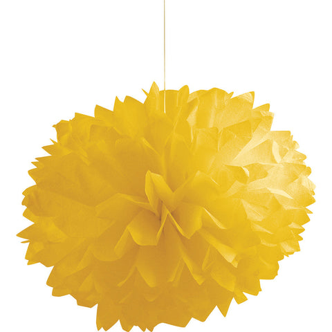 School Bus Yellow Bulk Party Paper Pom Poms Fluffy Tissue Balls-Bulk Party Decorations-Creative Converting-36-