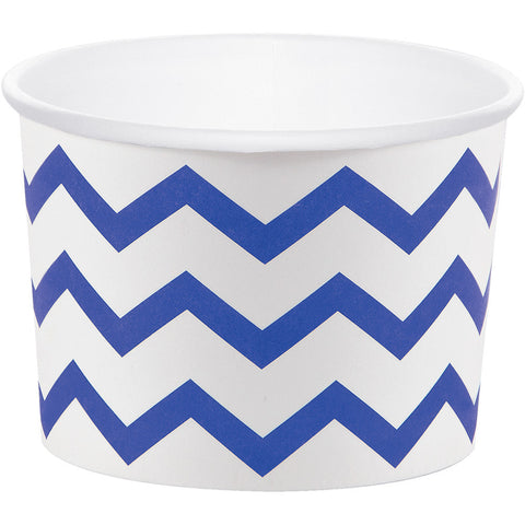 Cobalt Blue Bulk Party Chevron Paper Treat Cups Case