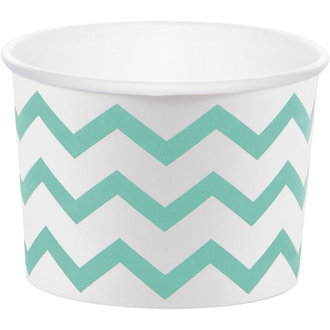 Mint Bulk Party Chevron Paper Treat Cups Case-Disposable Catering Supplies-Creative Converting-72-