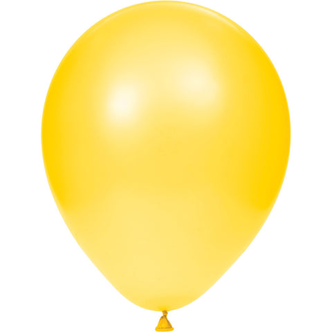 "School Bus Yellow Bulk Party Latex Balloons 12""-Bulk Party Decorations-Creative Converting-180-"