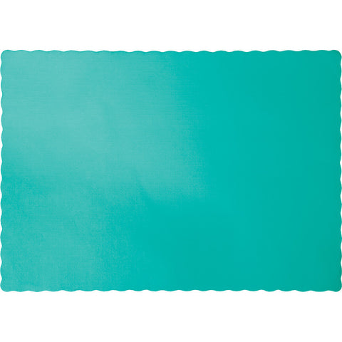 Teal Bulk Party Paper Placemats (600/Case)-Solid Color Party Tableware-Creative Converting-600-