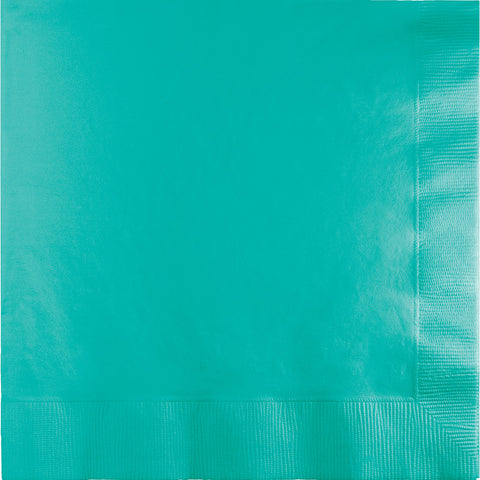 Teal Bulk Party 2 Ply Lunch Napkins (600/Case)-Solid Color Party Tableware-Creative Converting-600-