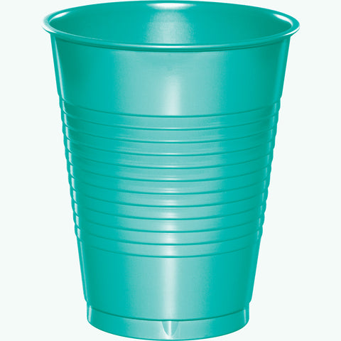 Teal Bulk Party Plastic Cups 16 oz. (240/Case)-Solid Color Party Tableware-Creative Converting-240-