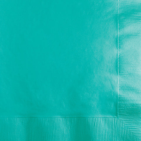 Teal Bulk Party 3 Ply Beverage Napkins (500/Case)-Solid Color Party Tableware-Creative Converting-500-