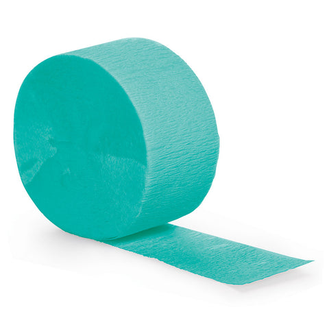 Teal Bulk Party Crepe Paper Streamers 81' (12/Case)