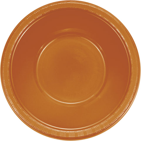 Pumpkin Spice Orange Bulk Party Plastic Bowls 12 oz. (240/Case)-Solid Color Party Tableware-Creative Converting-240-