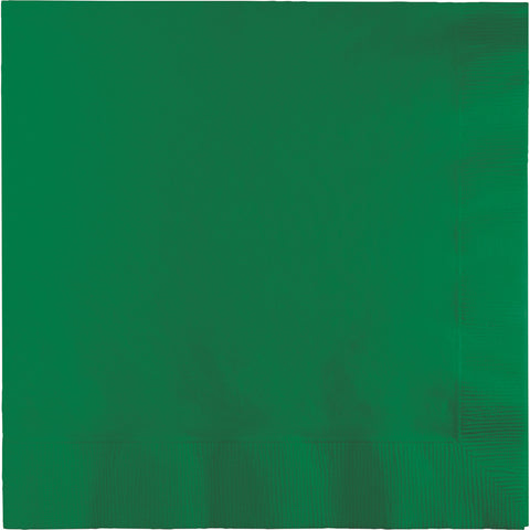 Emerald Green Bulk Party 2 Ply Lunch Napkins (900/Case)-Solid Color Party Tableware-Creative Converting-900-