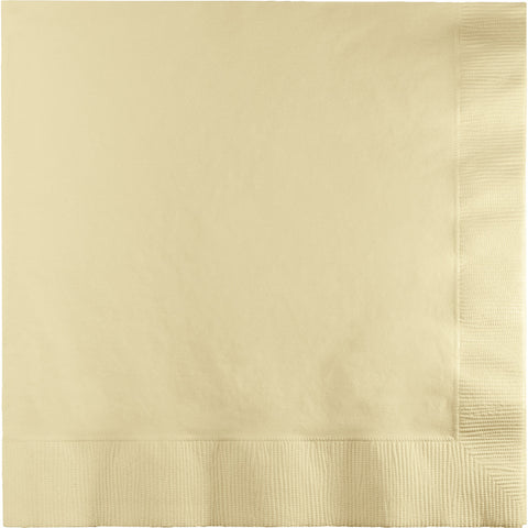 Ivory Bulk Party 2 Ply Lunch Napkins (900/Case)-Solid Color Party Tableware-Creative Converting-900-