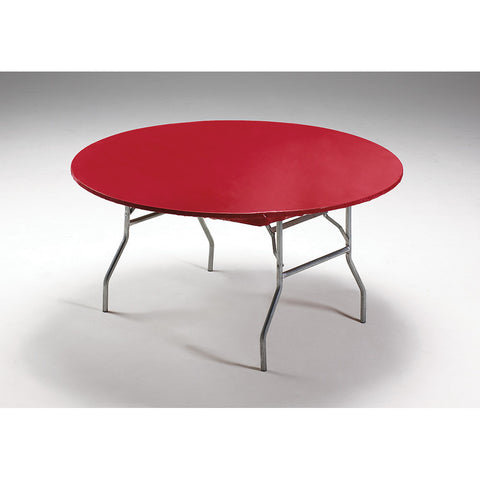 Red Disposable Catering Round Tablecovers Stay Put, 60""