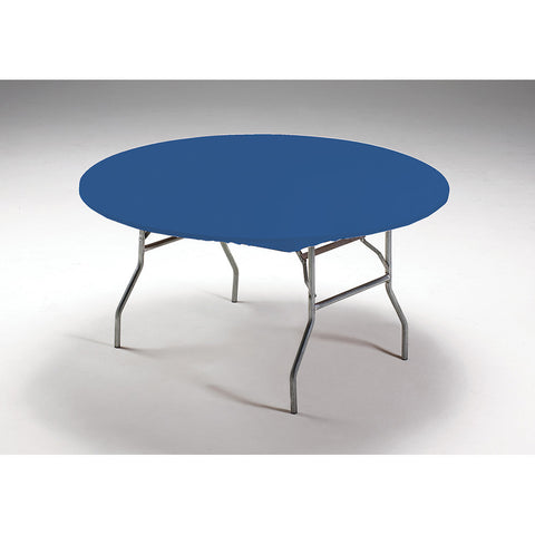 Royal Blue Disposable Catering Round Tablecovers Stay Put, 60""