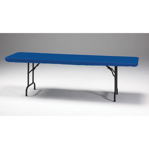 "Royal Blue Disposable Catering Rectangle Tablecovers Stay Put, 30"" x 96"""