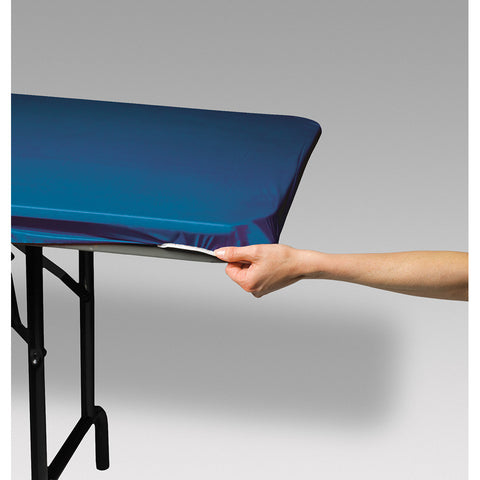 "Royal Blue Disposable Catering Rectangle Tablecovers Stay Put, 29"" x 72"""