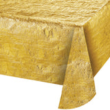 "Metallic Gold Bulk Party Rectangle Tablecovers, 54""x108"""