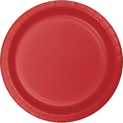 "Red Bulk Party Dinner Paper Plates 9"" (240/Case)-Solid Color Party Tableware-Creative Converting-240-"