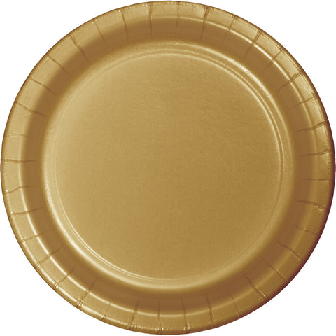 "Gold Bulk Party Dinner Paper Plates 9"" (240/Case)"
