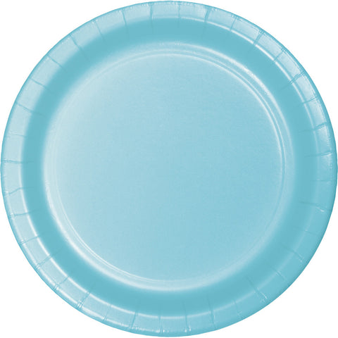 "Baby Blue Bulk Party Dinner Paper Plates 9"" (240/Case)-Solid Color Party Tableware-Creative Converting-240-"