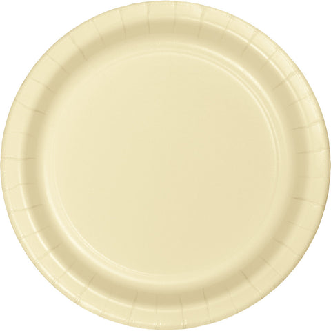 "Ivory Bulk Party Dinner Paper Plates 9"" (240/Case)-Solid Color Party Tableware-Creative Converting-240-"