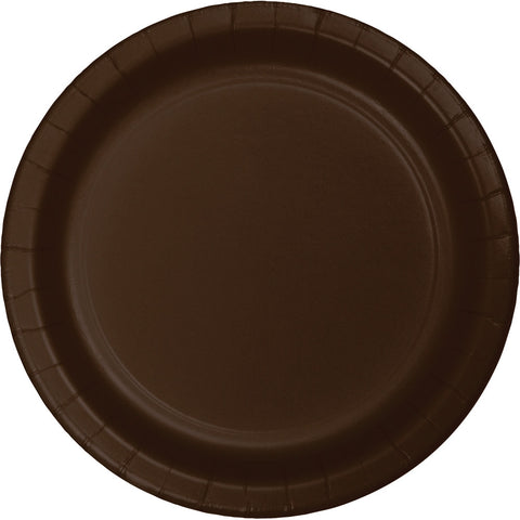 "Brown Bulk Party Dinner Paper Plates 9"" (240/Case)-Solid Color Party Tableware-Creative Converting-240-"