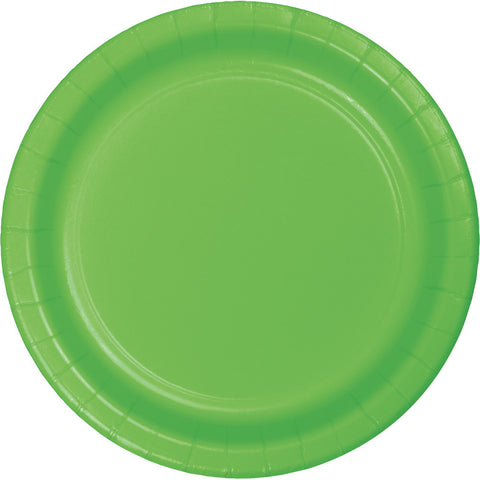 "Lime Green Bulk Party Dinner Paper Plates 9"" (240/Case)-Solid Color Party Tableware-Creative Converting-240-"