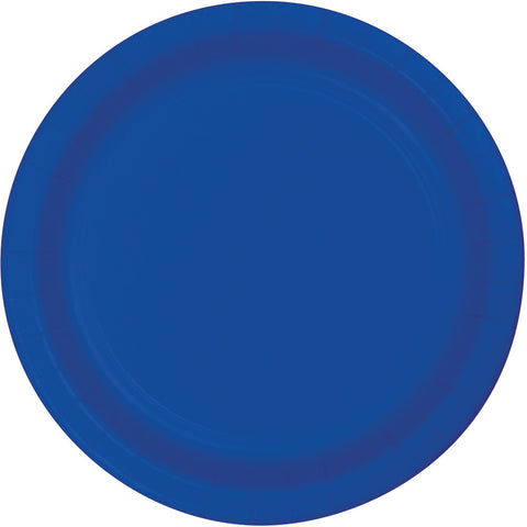"Cobalt Blue Bulk Party Dinner Paper Plates 9"" (240/Case)"