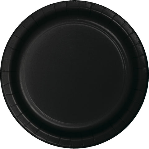 "Black Bulk Party Dinner Paper Plates 9"" (900/Case)-Solid Color Party Tableware-Creative Converting-900-"