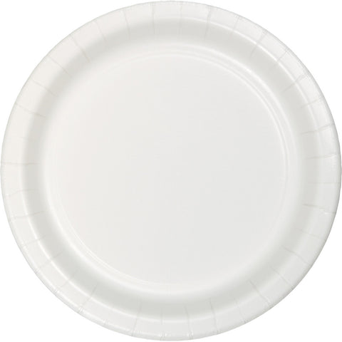 "White Bulk Party Banquet Dinner Paper Plates 10"" (240/Case)-Solid Color Party Tableware-Creative Converting-240-"
