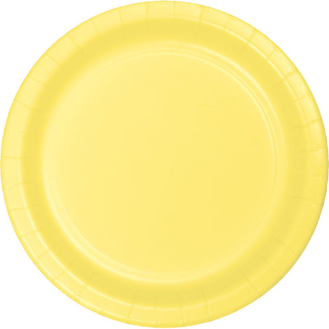 "Yellow Bulk Party Banquet Dinner Paper Plates 10"" (240/Case)-Solid Color Party Tableware-Creative Converting-240-"