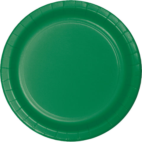"Emerald Green Bulk Party Banquet Dinner Paper Plates 10"" (240/Case)-Solid Color Party Tableware-Creative Converting-240-"