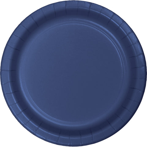 "Navy Blue Bulk Party Banquet Dinner Paper Plates 10"" (240/Case)-Solid Color Party Tableware-Creative Converting-240-"