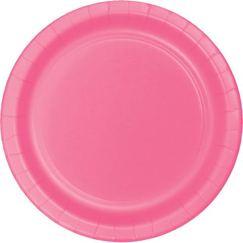 "Candy Pink Bulk Party Banquet Dinner Paper Plates 10"" (240/Case)"