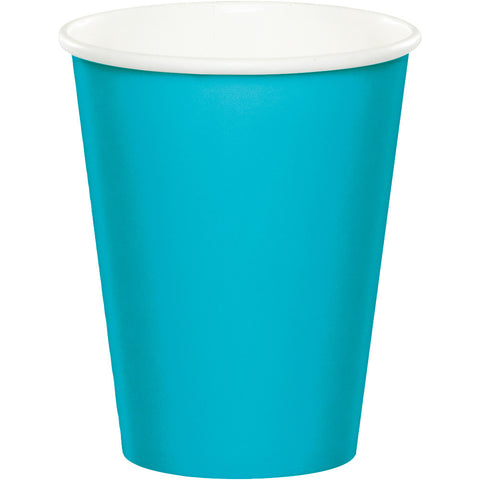 Bermuda Blue Bulk Party Hot/Cold Paper Cups 9 oz. (240/Case)-Solid Color Party Tableware-Creative Converting-240-
