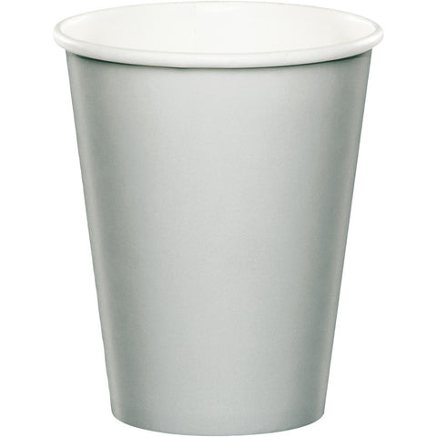 Silver Bulk Party Hot/Cold Paper Cups 9 oz. (240/Case)