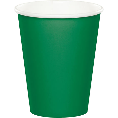 Emerald Green Bulk Party Hot/Cold Paper Cups 9 oz. (240/Case)-Solid Color Party Tableware-Creative Converting-240-