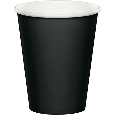 Black Bulk Party Hot/Cold Paper Cups 9 oz. (240/Case)-Solid Color Party Tableware-Creative Converting-240-