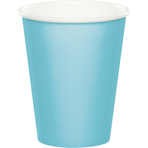 Baby Blue Bulk Party Hot/Cold Paper Cups 9 oz. (240/Case)-Solid Color Party Tableware-Creative Converting-240-