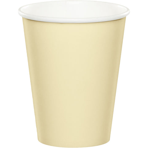 Ivory Bulk Party Hot/Cold Paper Cups 9 oz. (240/Case)-Solid Color Party Tableware-Creative Converting-240-