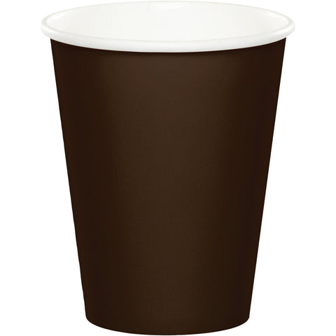 Brown Bulk Party Hot/Cold Paper Cups 9 oz. (240/Case)-Solid Color Party Tableware-Creative Converting-240-