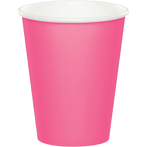 Candy Pink Bulk Party Hot/Cold Paper Cups 9 oz. (240/Case)
