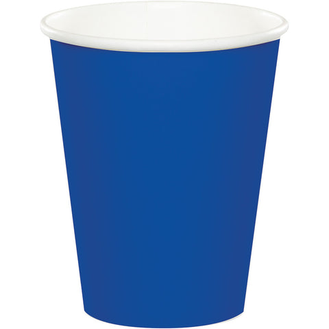Cobalt Blue Bulk Party Hot/Cold Paper Cups 9 oz. (240/Case)-Solid Color Party Tableware-Creative Converting-240-
