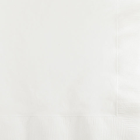 White Bulk Party 3 Ply Beverage Napkins (500/Case)