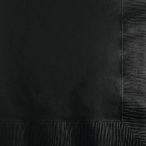 Black Bulk Party 3 Ply Beverage Napkins (500/Case)