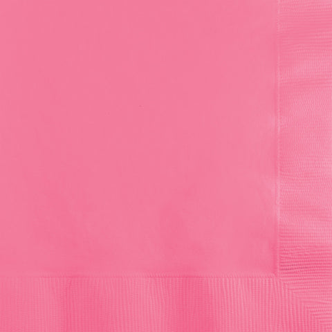 Candy Pink Bulk Party 3 Ply Beverage Napkins (500/Case)