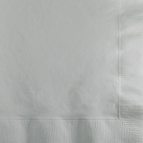 Silver Bulk Party 3 Ply Beverage Napkins (500/Case)
