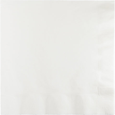 White Bulk Party 3 Ply Lunch Napkins (500/Case)