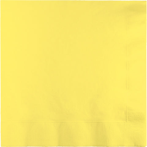 Yellow Bulk Party 3 Ply Lunch Napkins (500/Case)-Solid Color Party Tableware-Creative Converting-500-
