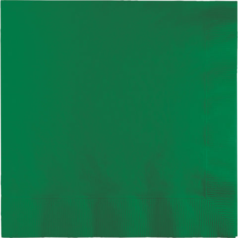 Emerald Green Bulk Party 3 Ply Lunch Napkins (500/Case)-Solid Color Party Tableware-Creative Converting-500-