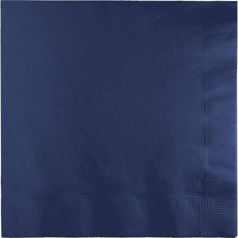 Navy Blue Bulk Party 3 Ply Dinner Napkins 1/4 Fold (250/Case)-Solid Color Party Tableware-Creative Converting-250-