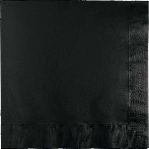 Black Bulk Party 3 Ply Dinner Napkins 1/4 Fold (250/Case)