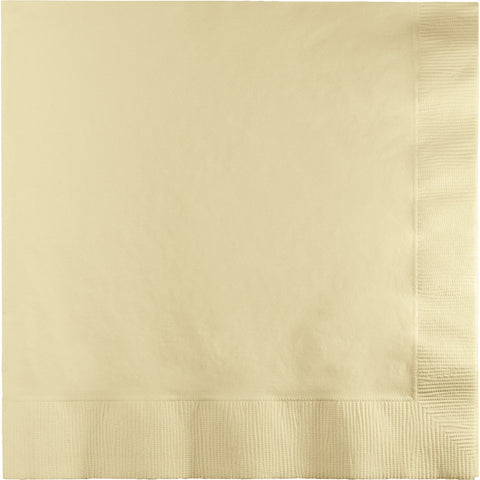 Ivory Bulk Party 3 Ply Lunch Napkins (500/Case)-Solid Color Party Tableware-Creative Converting-500-