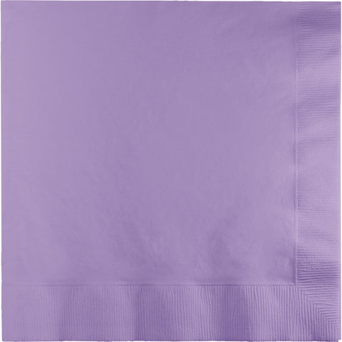 Lavender Bulk Party 3 Ply Lunch Napkins (500/Case)-Solid Color Party Tableware-Creative Converting-500-